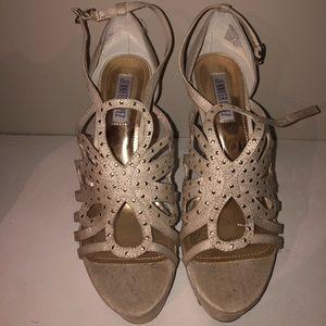 Tan strappy heels